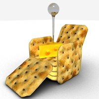 3D cheese crackers