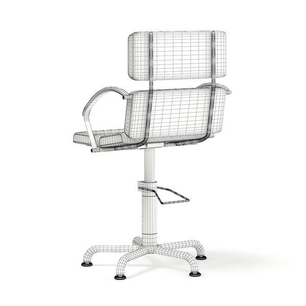 Admirable Salon Chair 3D Model Dailytribune Chair Design For Home Dailytribuneorg