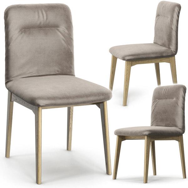 3D calligaris greta wood chair