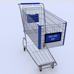 shopping cart logo 3D model