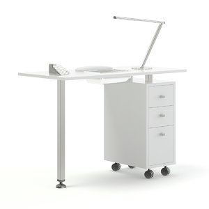 3D manicure table model