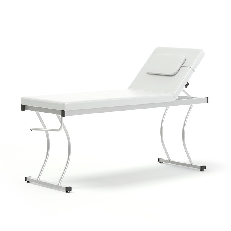 3D model white massage bed