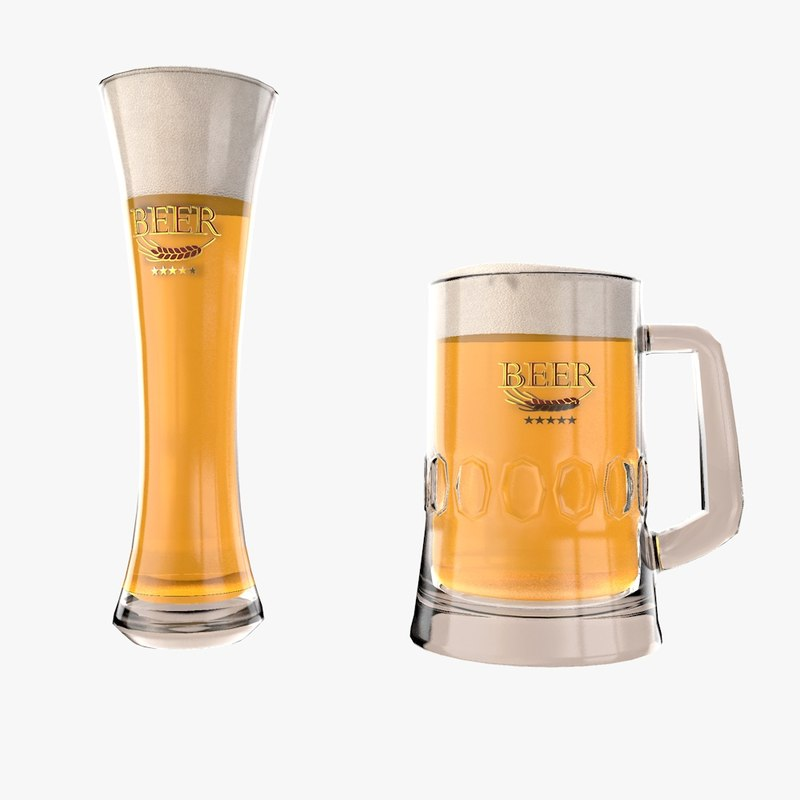 beer glass model