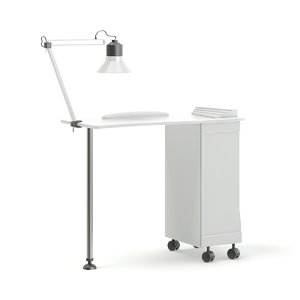 3D white manicure table