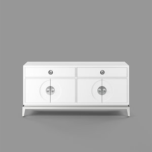 3D channing media console model