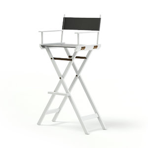3D white makeup chair