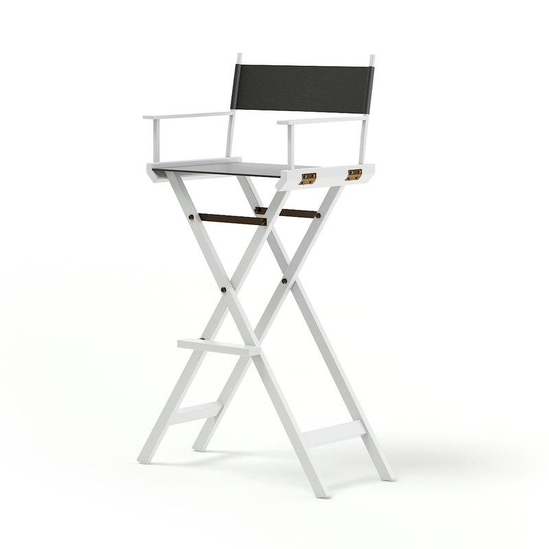 3D white makeup chair