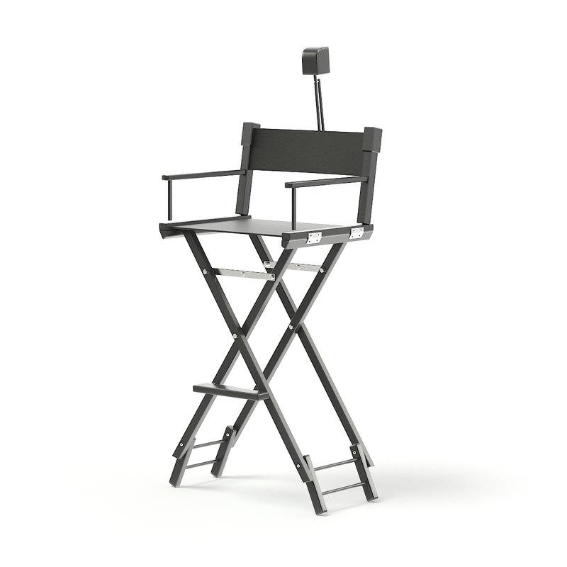 black makeup chair 3D model