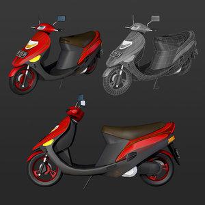 3D motor motorcycle matic