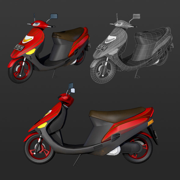 3D motor motorcycle matic