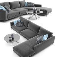 Berto Time Break Sectional Sofa