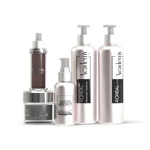 cosmetics bottles beauty 3D model