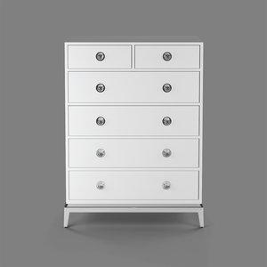 3D six-drawer chest drawer model