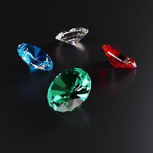 3D diamond brilliant