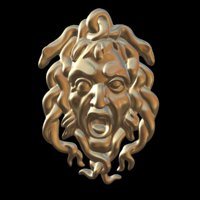 sculpture gorgon mask 3D model