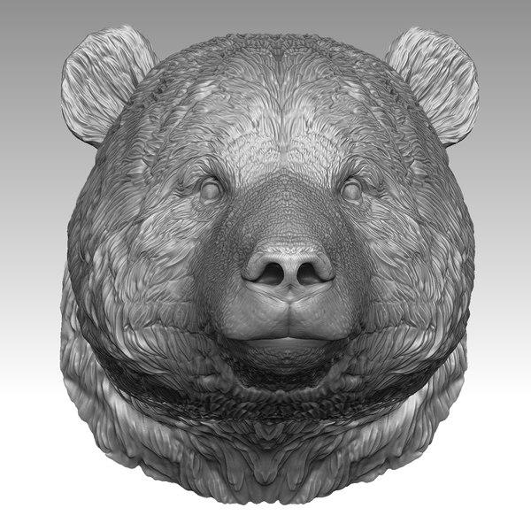 panda head model
