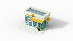 cartoon bakery 3D model