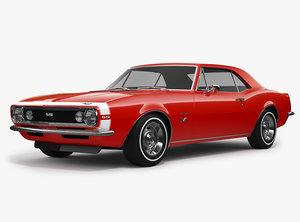 3D chevrolet camaro ss 1967 model