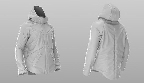 3D puffer jacket - coat model