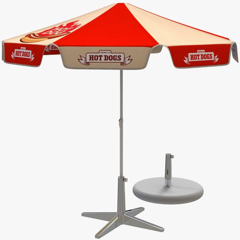 beach umbrella parasol 3D model