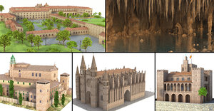 mallorca cathedral modeled 3D model