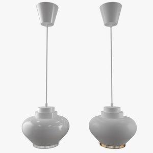 3D a333 pendant light turnip