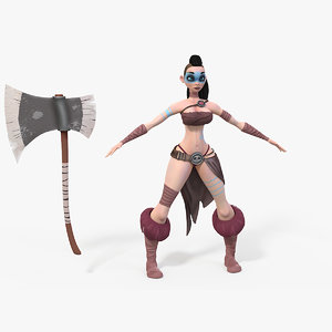 3D warrior girl