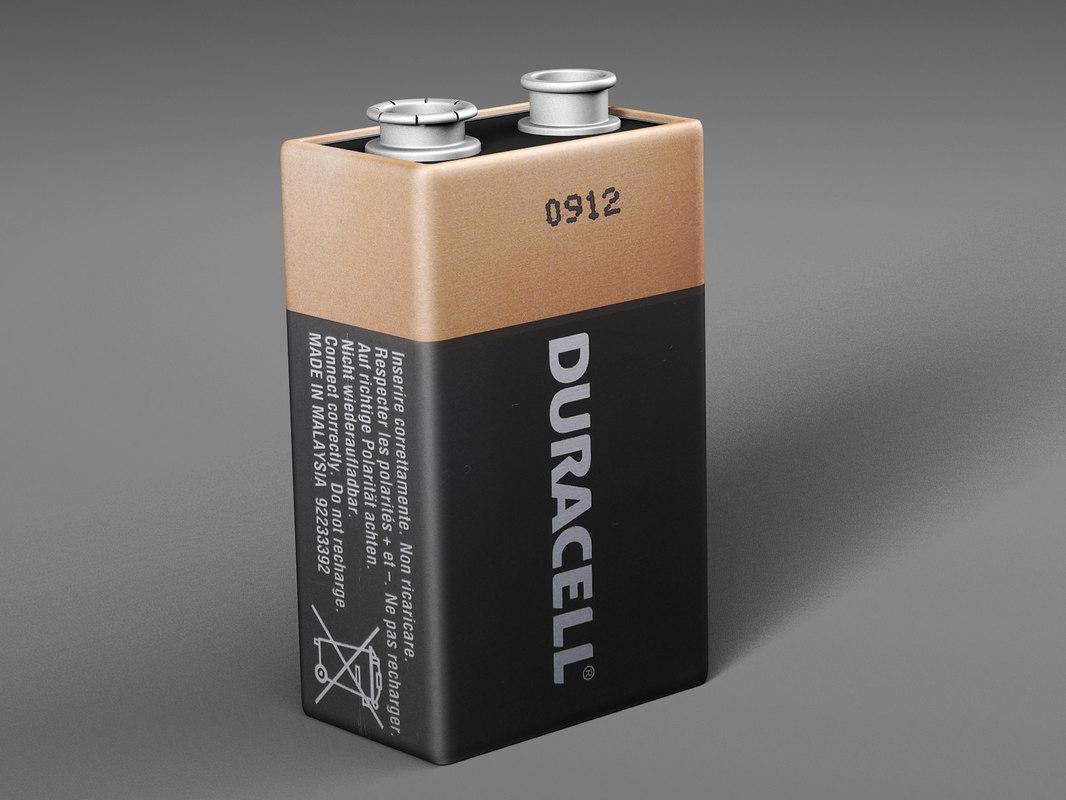 battery duracell 3D