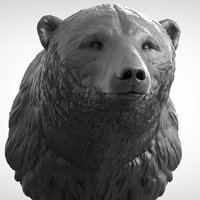 3D polar bear head