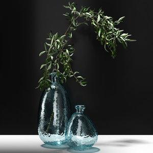 3D olive branch h model