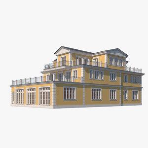 villa realistic 3D model
