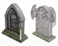 tomb tombstone stone 3D model
