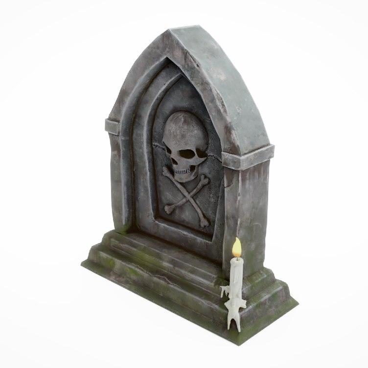 3D tomb tombstone stone