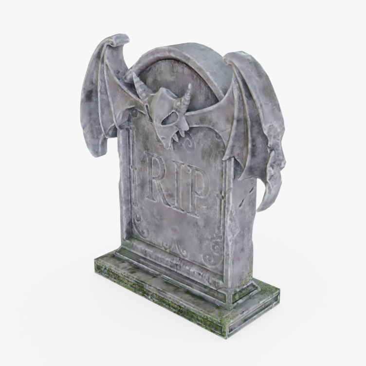 3D tomb tombstone stone model