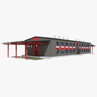 3D administrative building