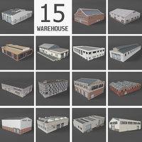 15 warehouse buildings 3D model