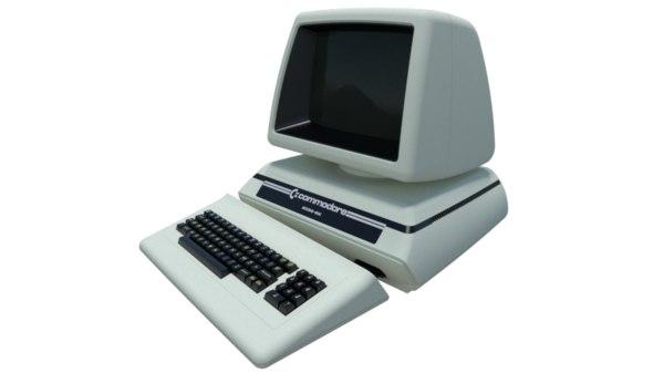 3D model commodore computer