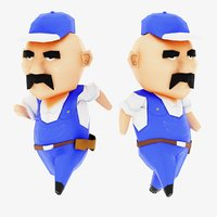 Bob the Handyman Stylized Lowpoly Cartoon Character