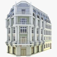 facade corner tenement 3D model