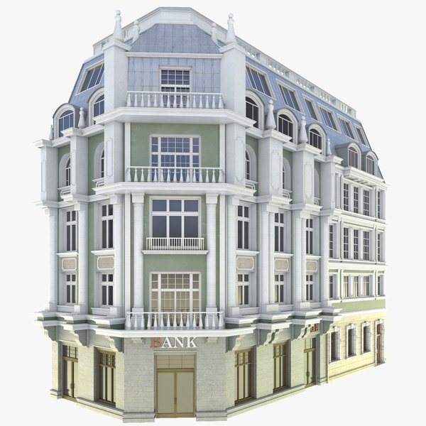 facade corner tenement 3D model