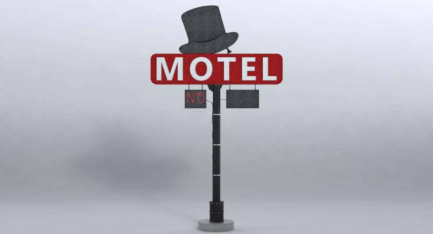 sign motel model