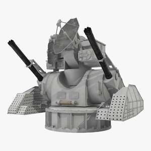air defence kashtan combat 3D model