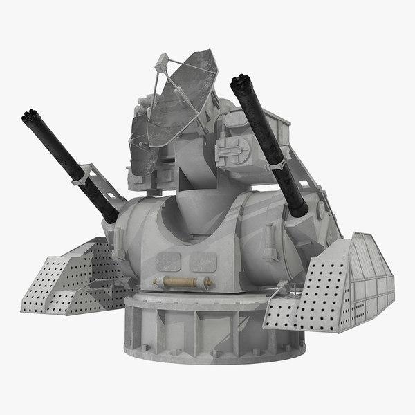 air defence kashtan combat 3D model