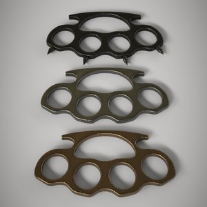 3D pack 3 brass knuckles