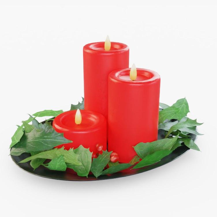 3D model red pbr