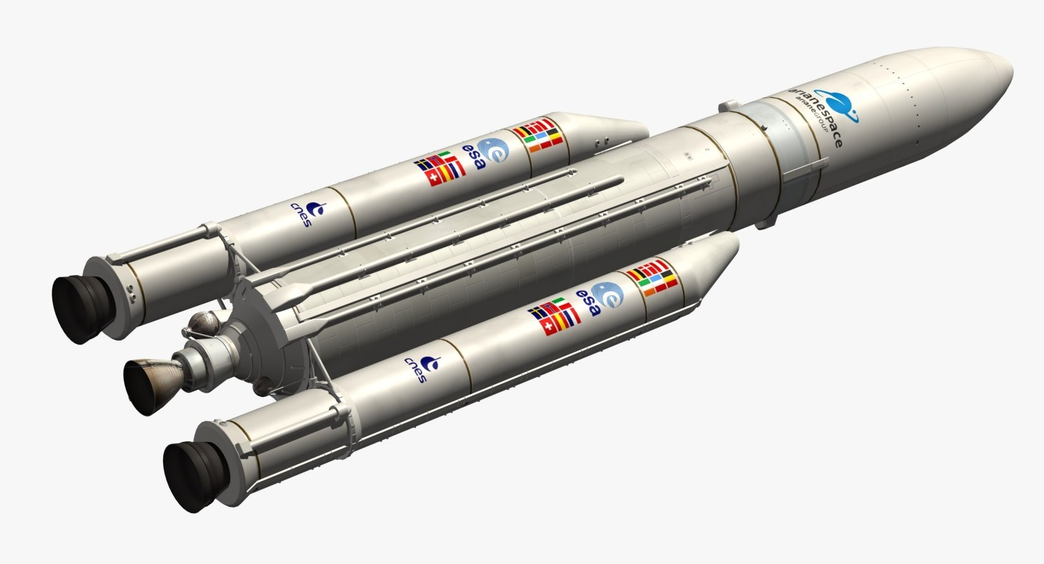 3D ariane 5 eca model
