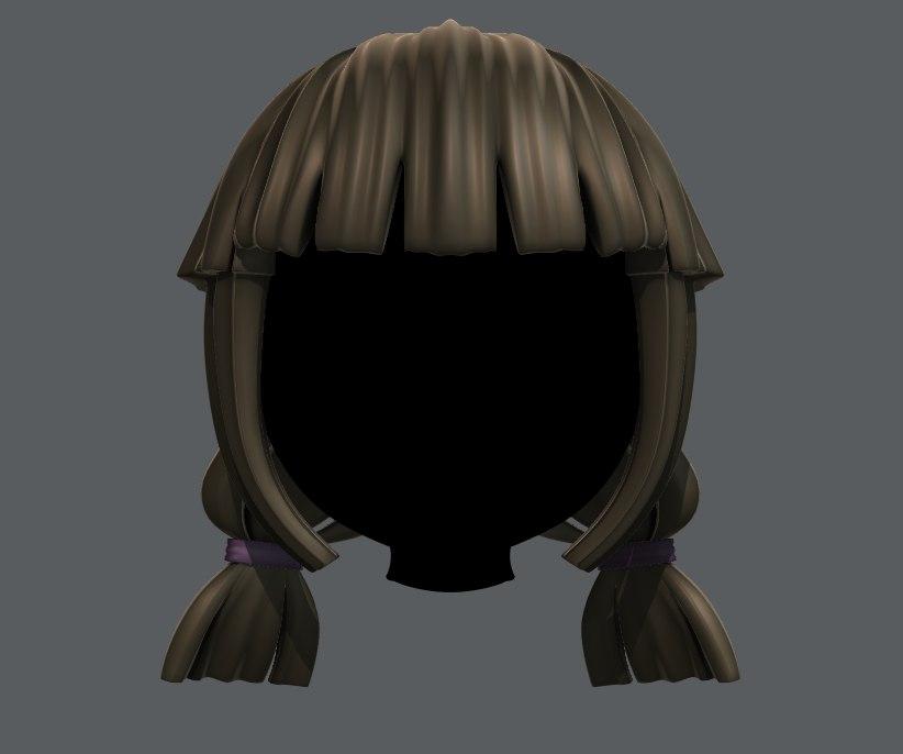 hair girl model