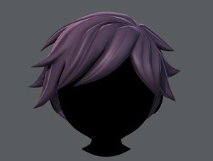 3D boy hair