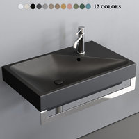 smile blink washbasin 3D model