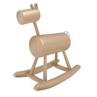 rocking horse wood 3D